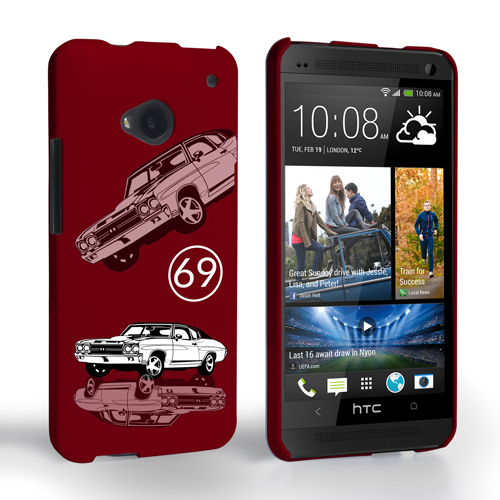 Caseflex Chevrolet Chevelle Classic Car HTC One Case- Burgundy