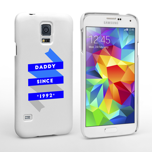 caseflex daddy custom year samsung galaxy s5 case whi