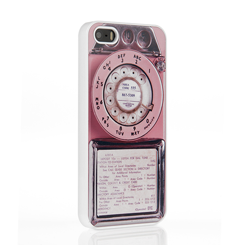 On Your Case iPhone 5/ 5S Case - Pink Vintage Payphone