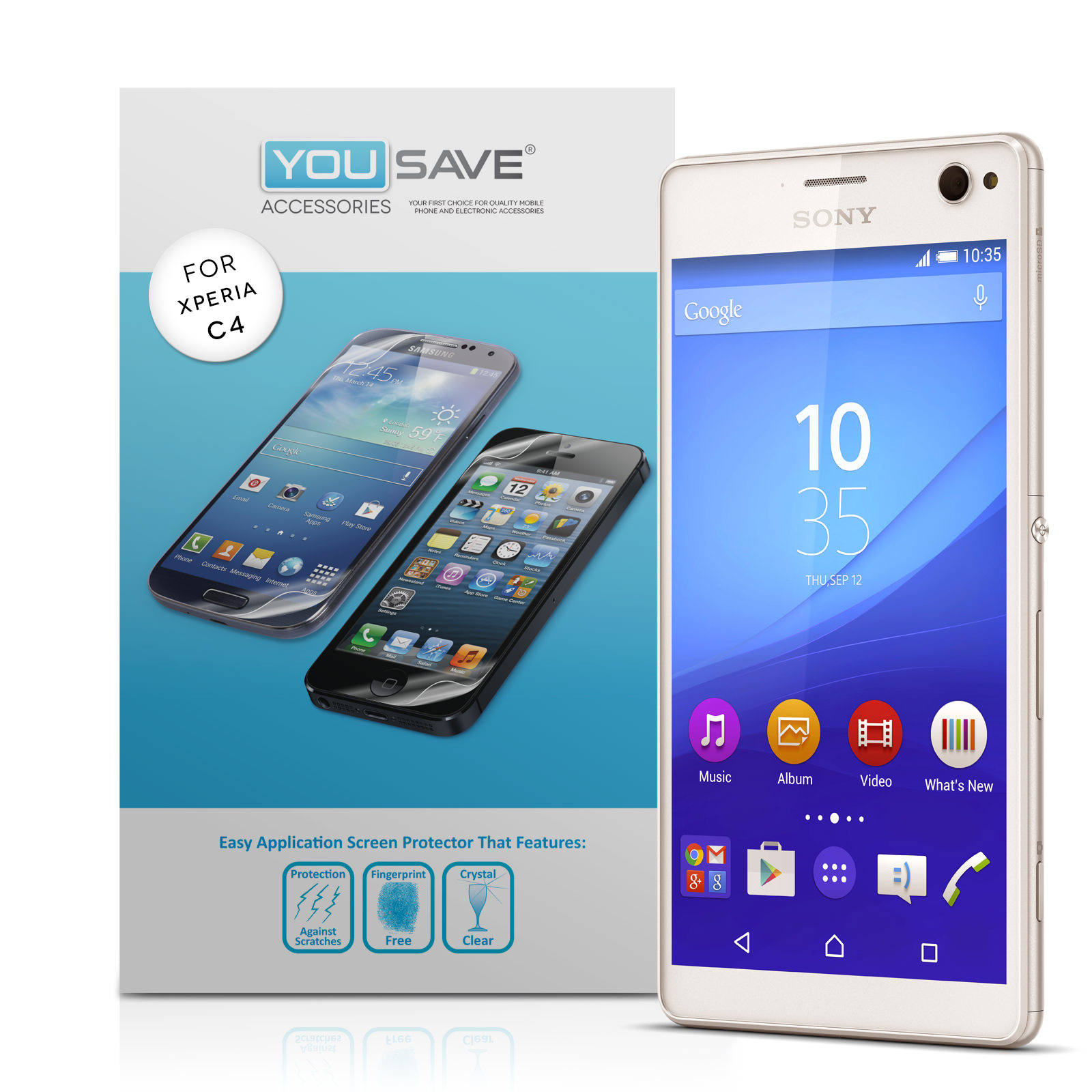 Yousave Accessories Sony Xperia C4 Screen Protectors x3
