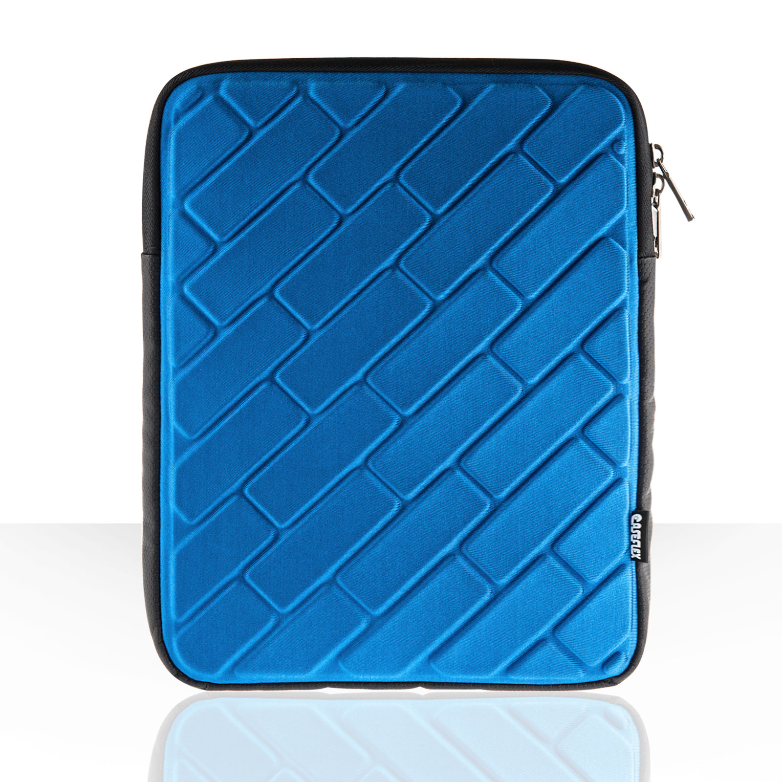 "Caseflex Brick Pattern 10"" Tablet Pouch - Blue"