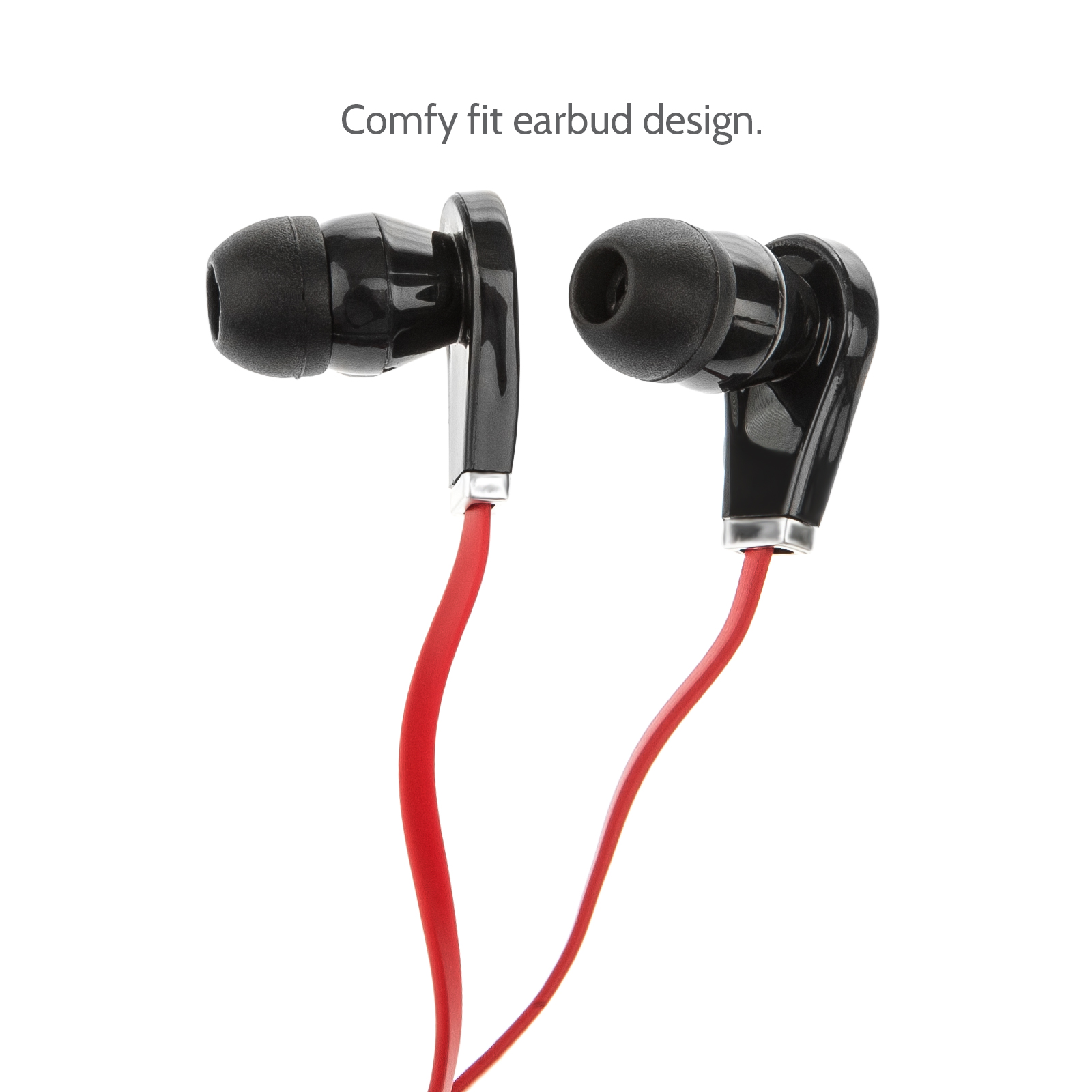 Audiance B1 Ear-Buds - Red Cable