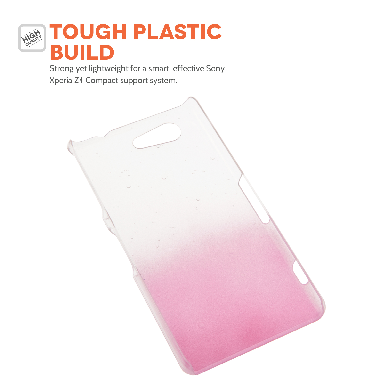 YouSave Sony Xperia Z4 Compact Raindrop Hard Case - Baby Pink-Clear