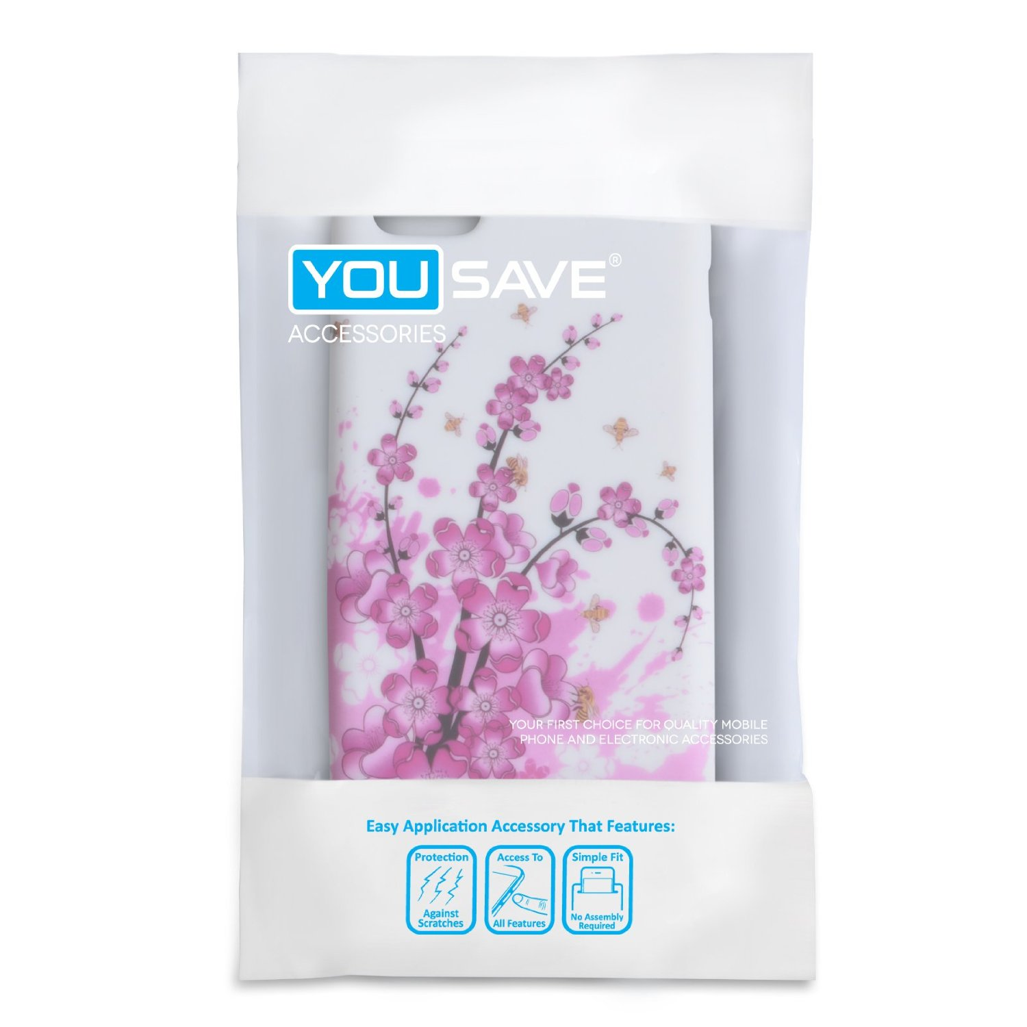 Yousave Accessories iPhone 5C Floral Bee Gel Case