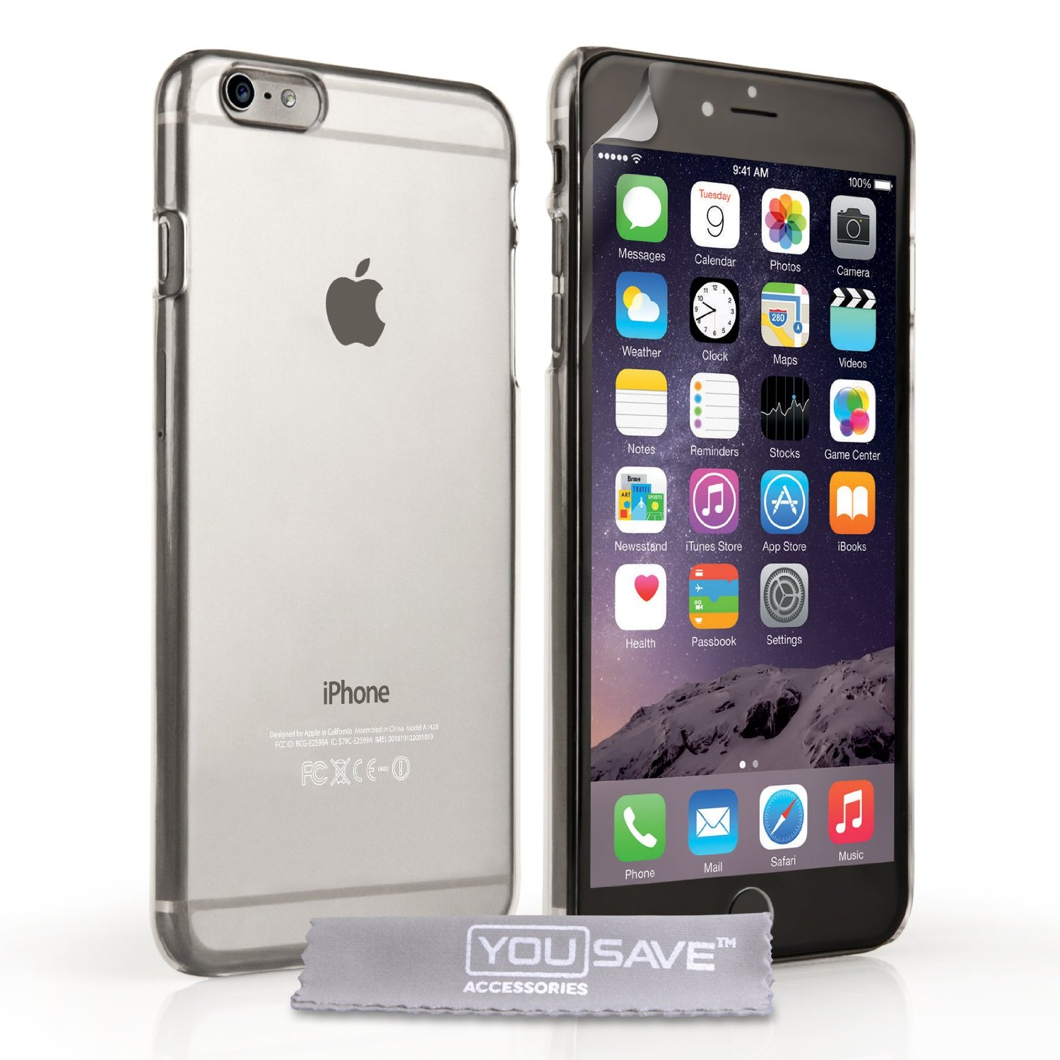 YouSave Accessories iPhone 6 Plus and 6s Plus Crystal Clear Hard Case