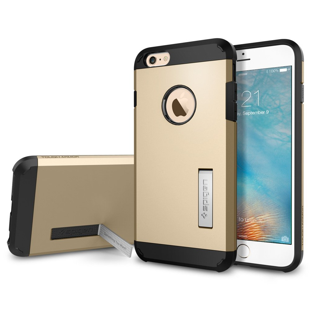 spigen iphone 6s plus tough armor case champagne gold. Black Bedroom Furniture Sets. Home Design Ideas