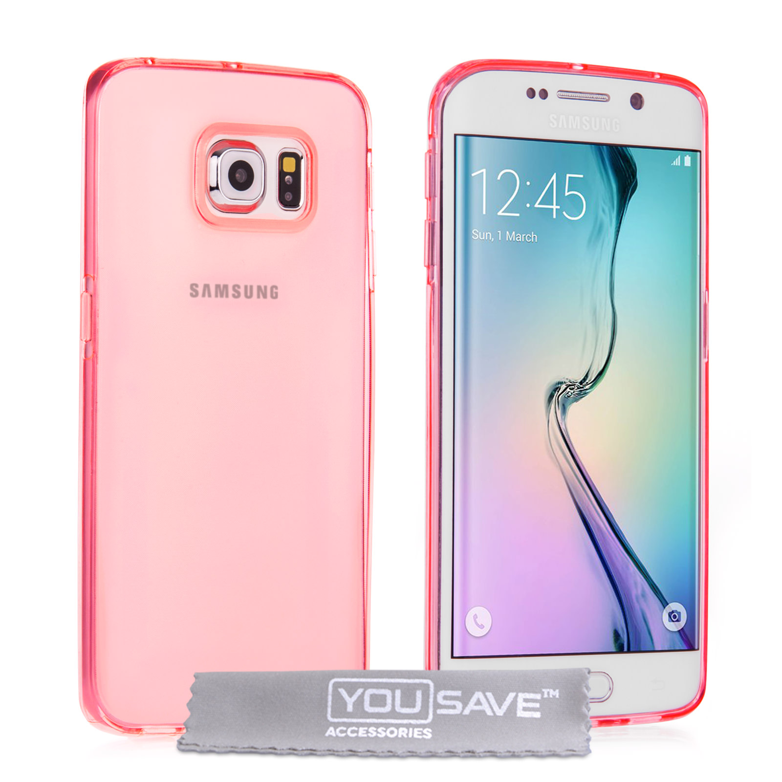 Yousave Accessories Samsung Galaxy S6 Edge Ultra-Thin Gel - Pink Case