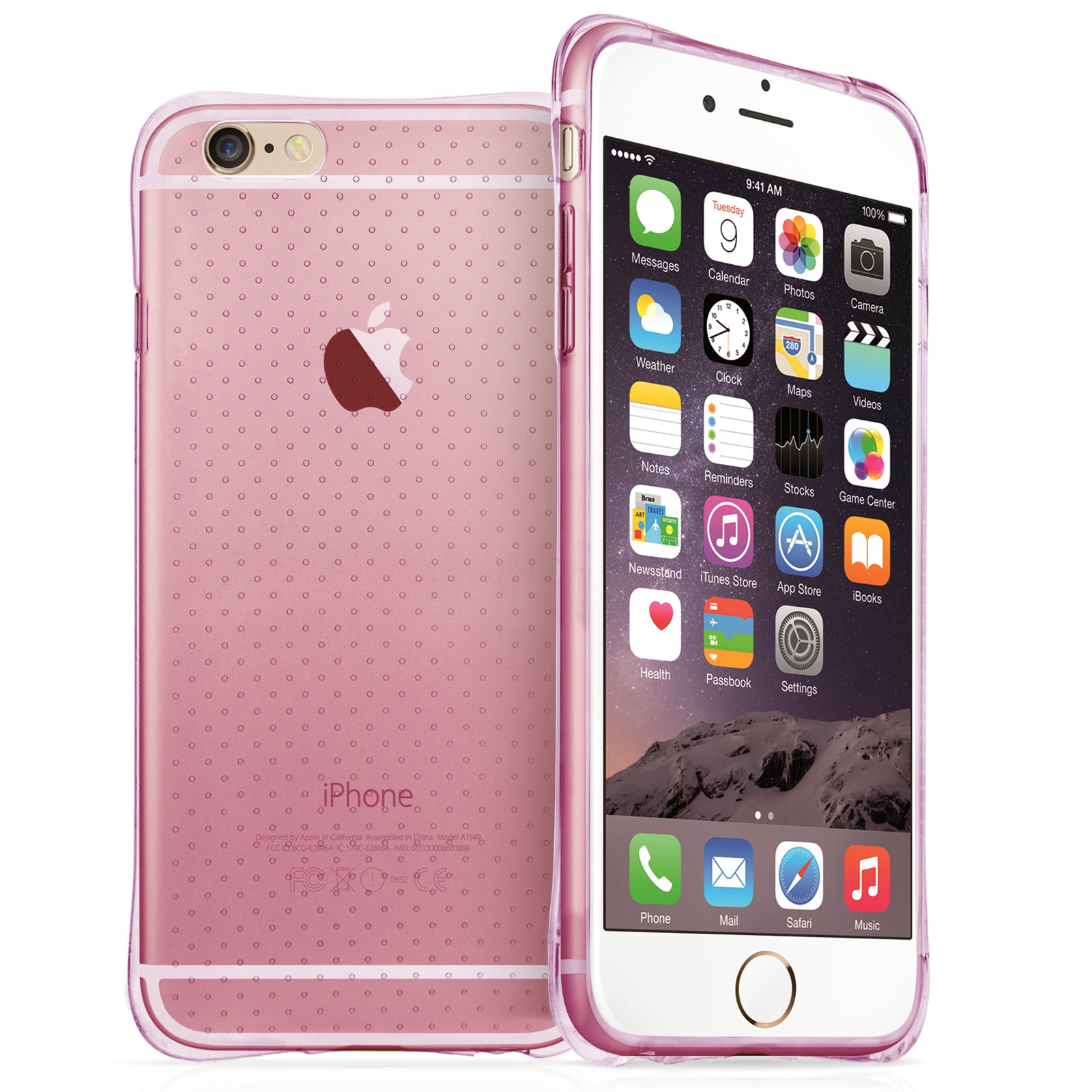 Yousave Accessories iPhone 6 Plus and 6s Plus Air Cushion Gel - Pink Case