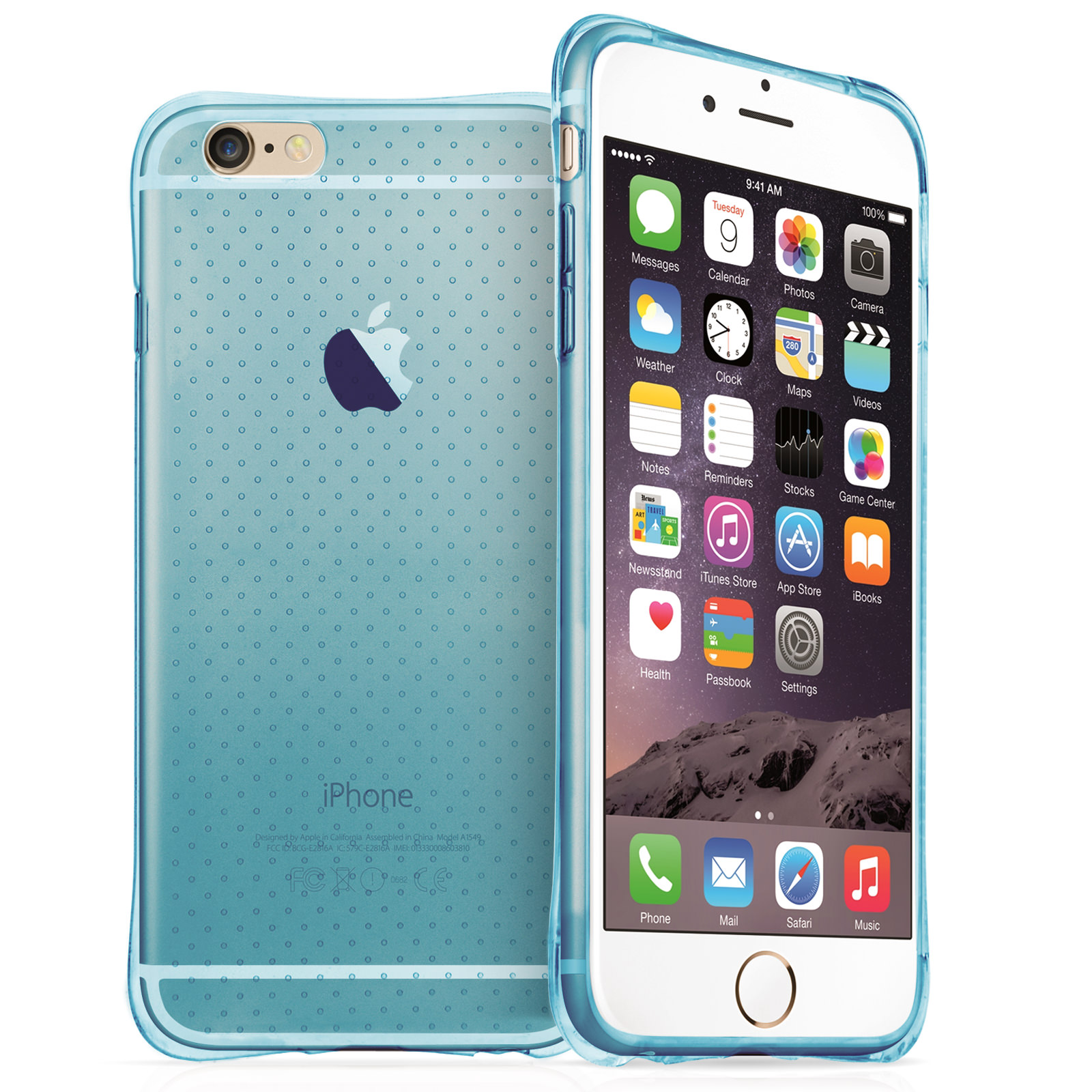 Yousave Accessories iPhone 6 Plus and 6s Plus Air Cushion Gel - Blue Case