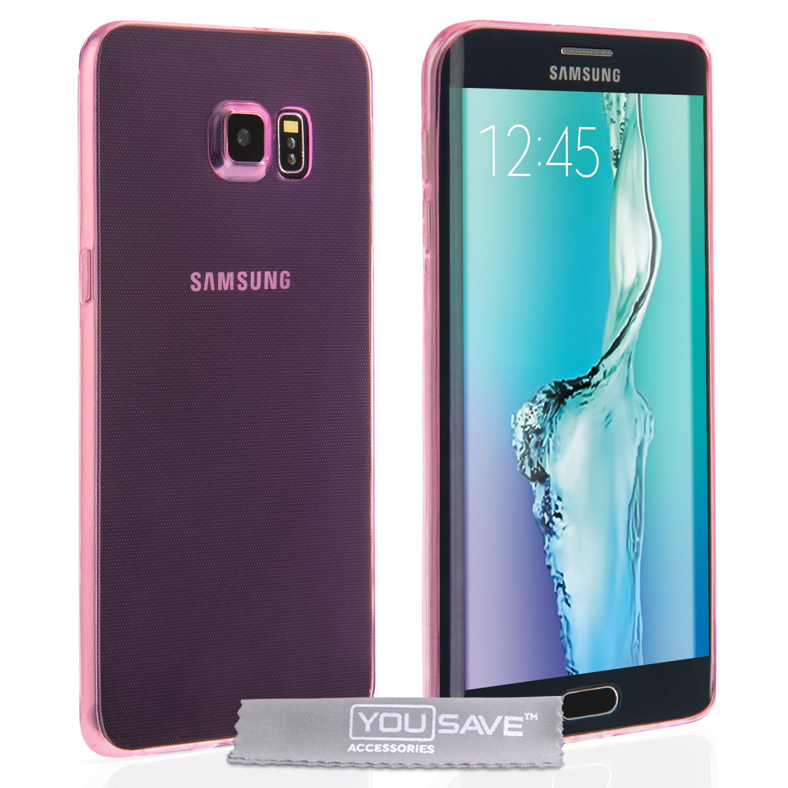 Yousave Accessories Samsung Galaxy S6 Edge Plus Ultra Thin Gel -Pink Case