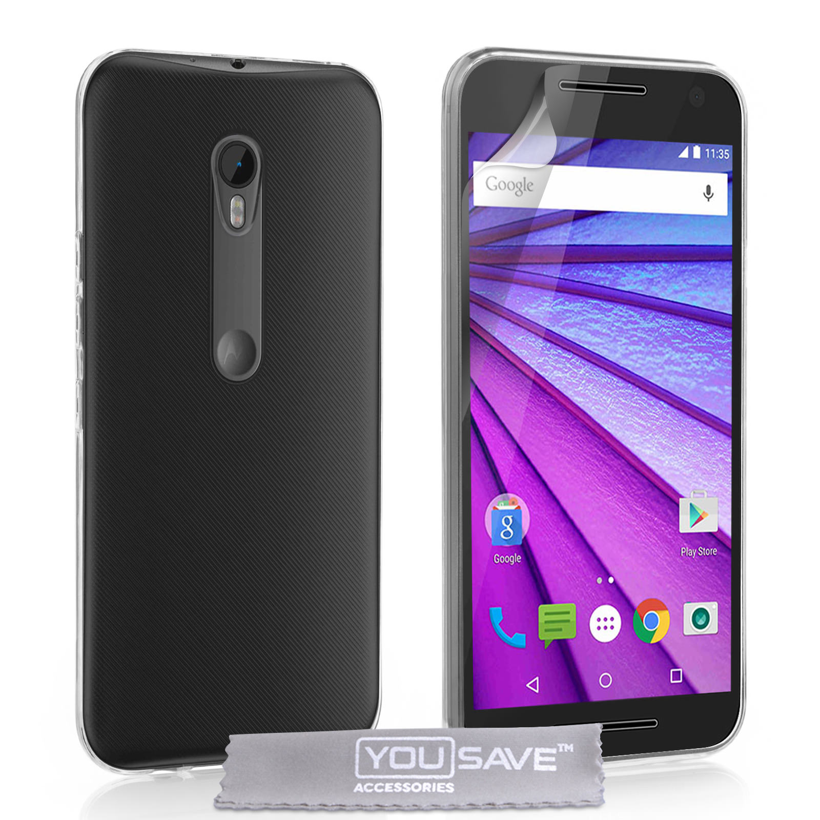 Yousave Accessories Motorola Moto G 3rd Gen Ultra-Thin 0.6mm Case - Clear