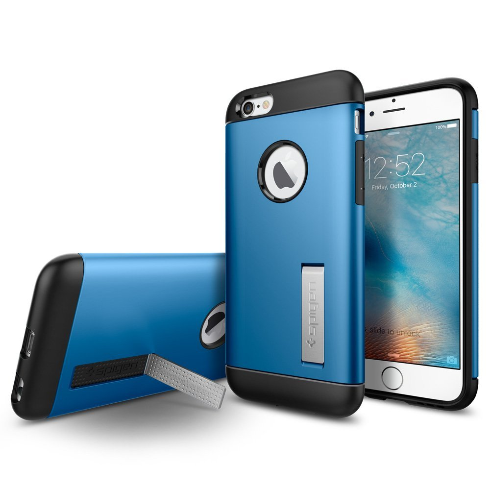 Spigen iPhone 6 and  6S Case Slim Armor Electric Blue ( SF coated )
