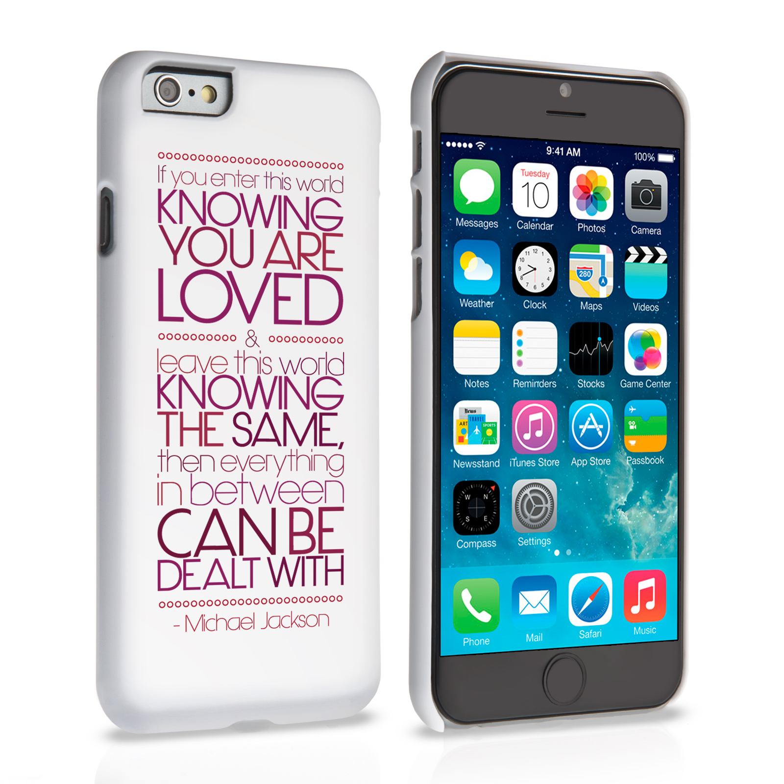 Caseflex iPhone 6 and 6s Michael Jackson Quote Case