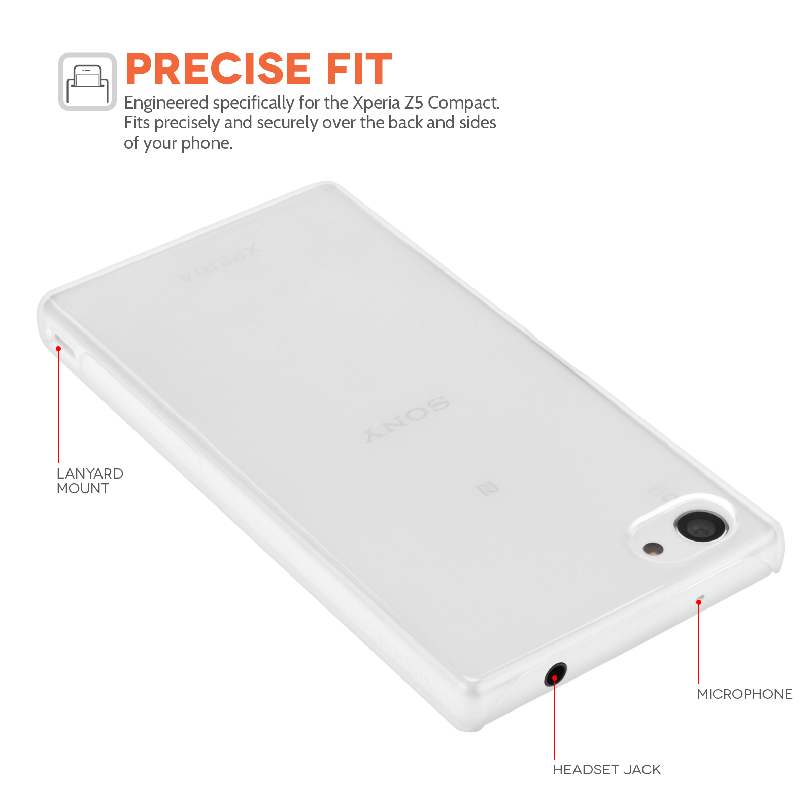 YouSave Accessories Sony Xperia Z5 Compact Hard Case - Crystal Clear