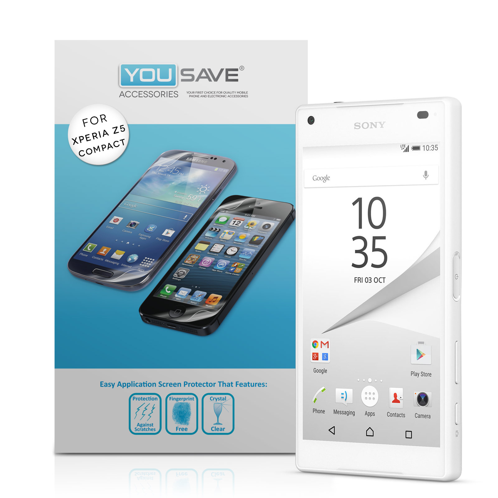 YouSave Accessories Sony Xperia Z5 Compact Screen Protectors x5