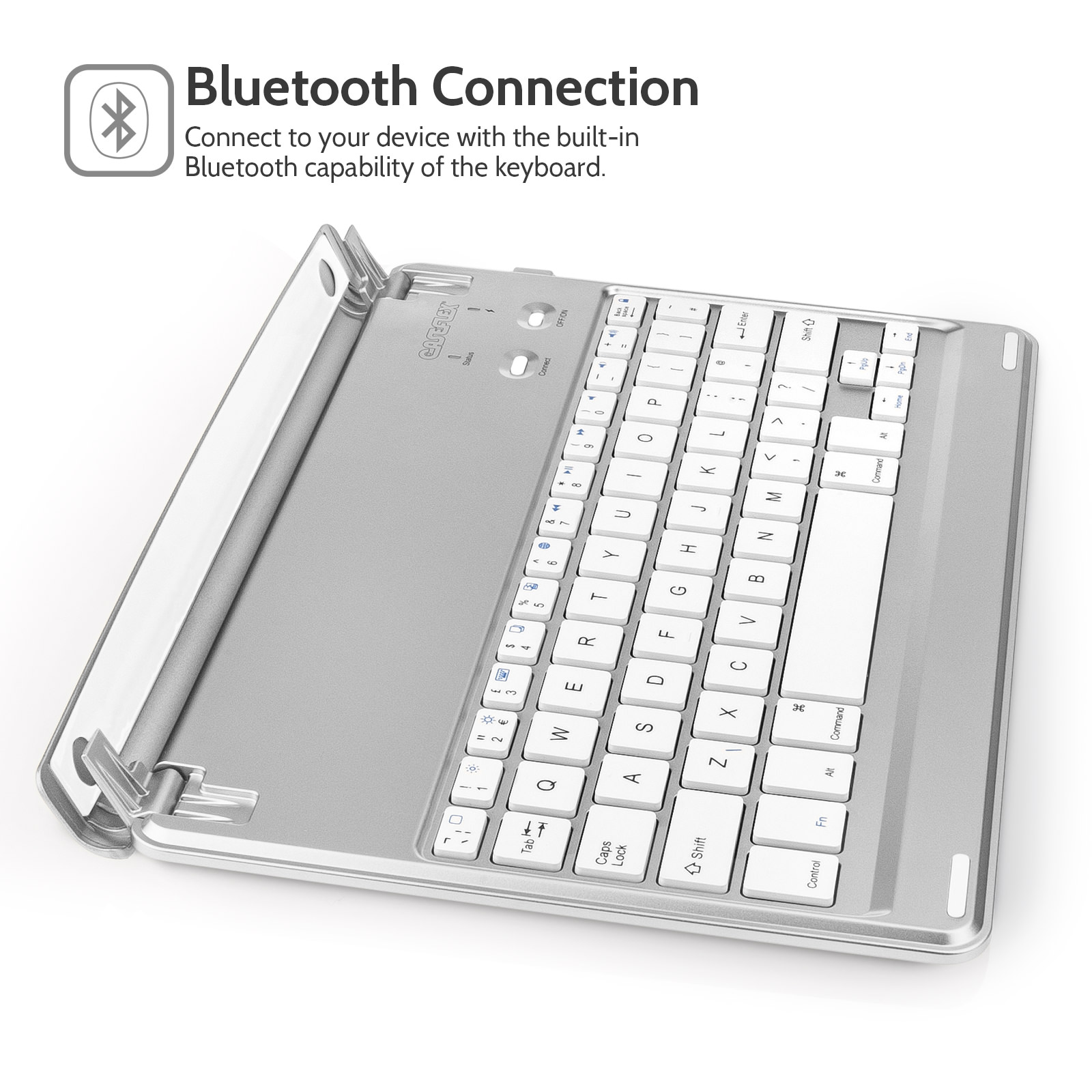 Caseflex iPad Air / Air 2 Keyboard - Silver