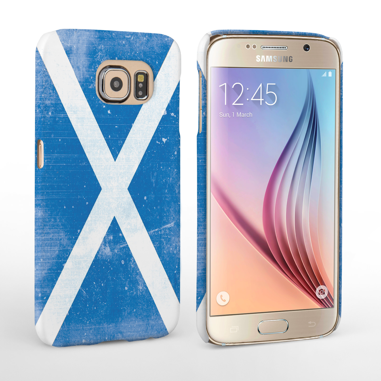 Caseflex Samsung Galaxy S6 Retro Scotland Flag Case