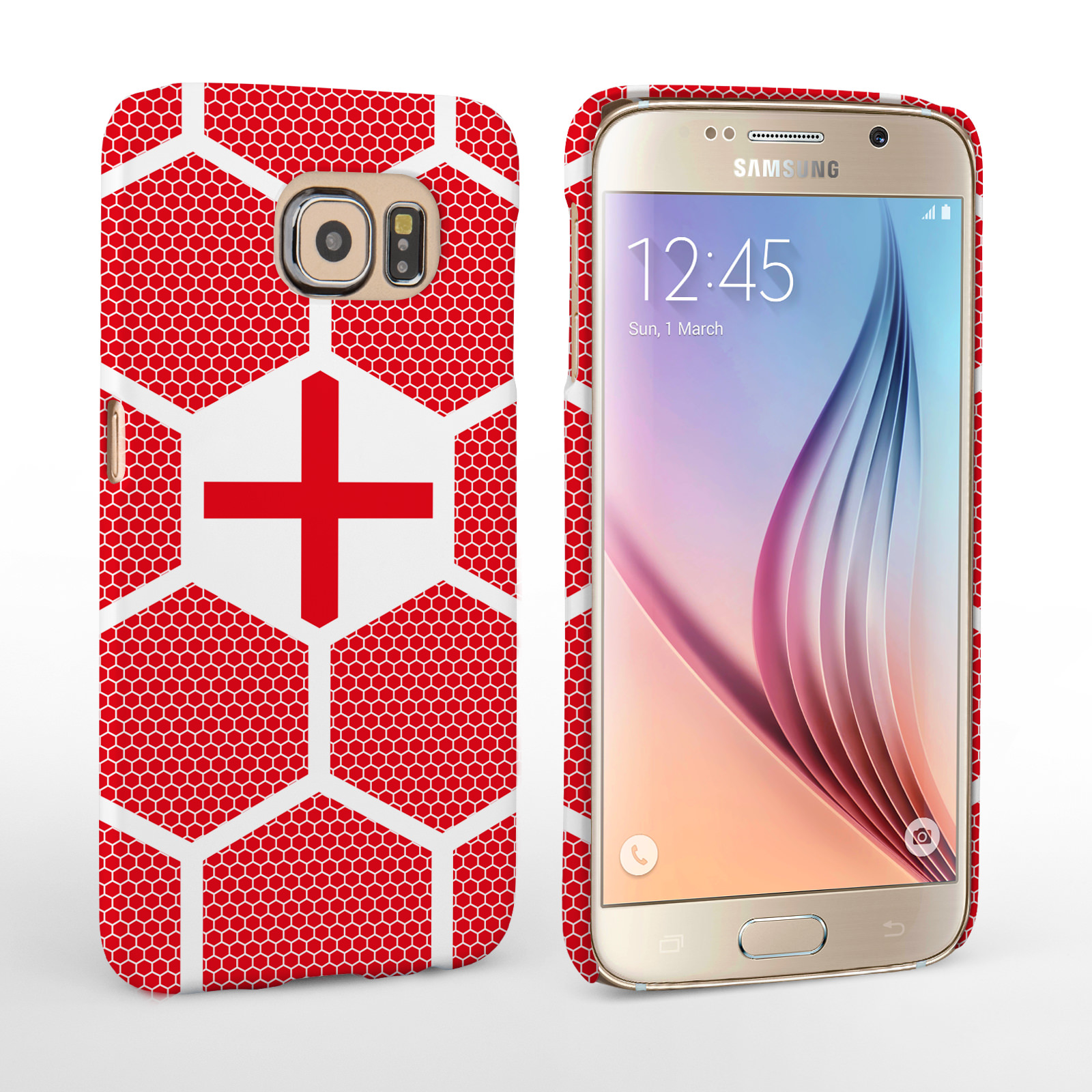 Caseflex Samsung Galaxy S6 England Football Pattern World Cup Case