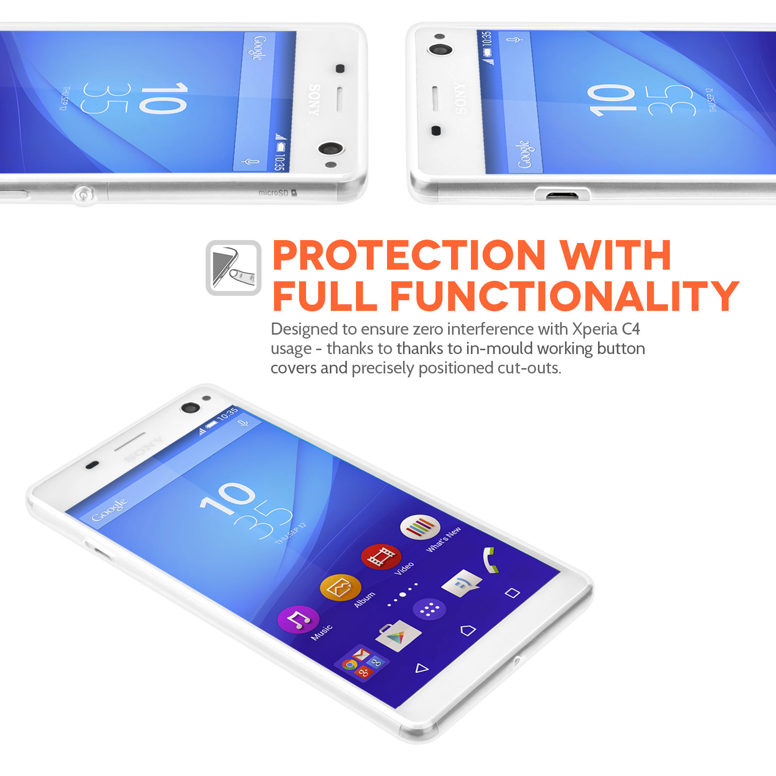 Yousave Accessories Sony Xperia C4 06mm Clear Gel Case C 4