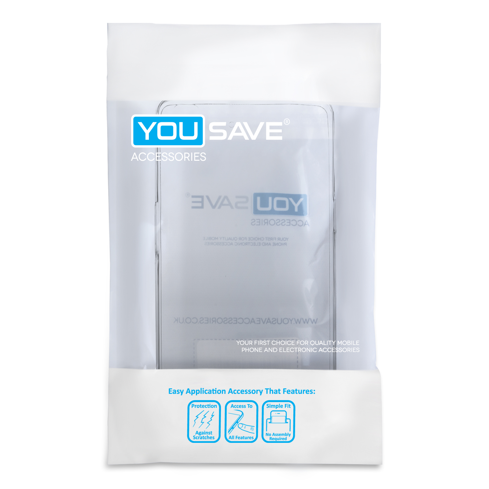 Yousave Accessories Oppo R7 Ultra Thin Clear Gel Case