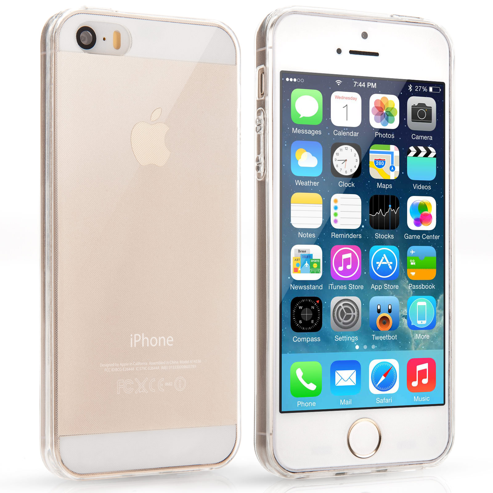 Yousave Accessories iPhone 5 / 5S Ultra Thin Clear Gel Case