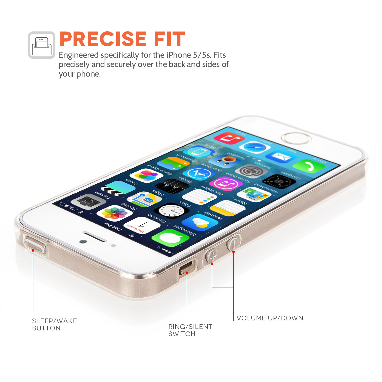 YouSave Accessories iPhone 5 / 5S Clear Gel Case