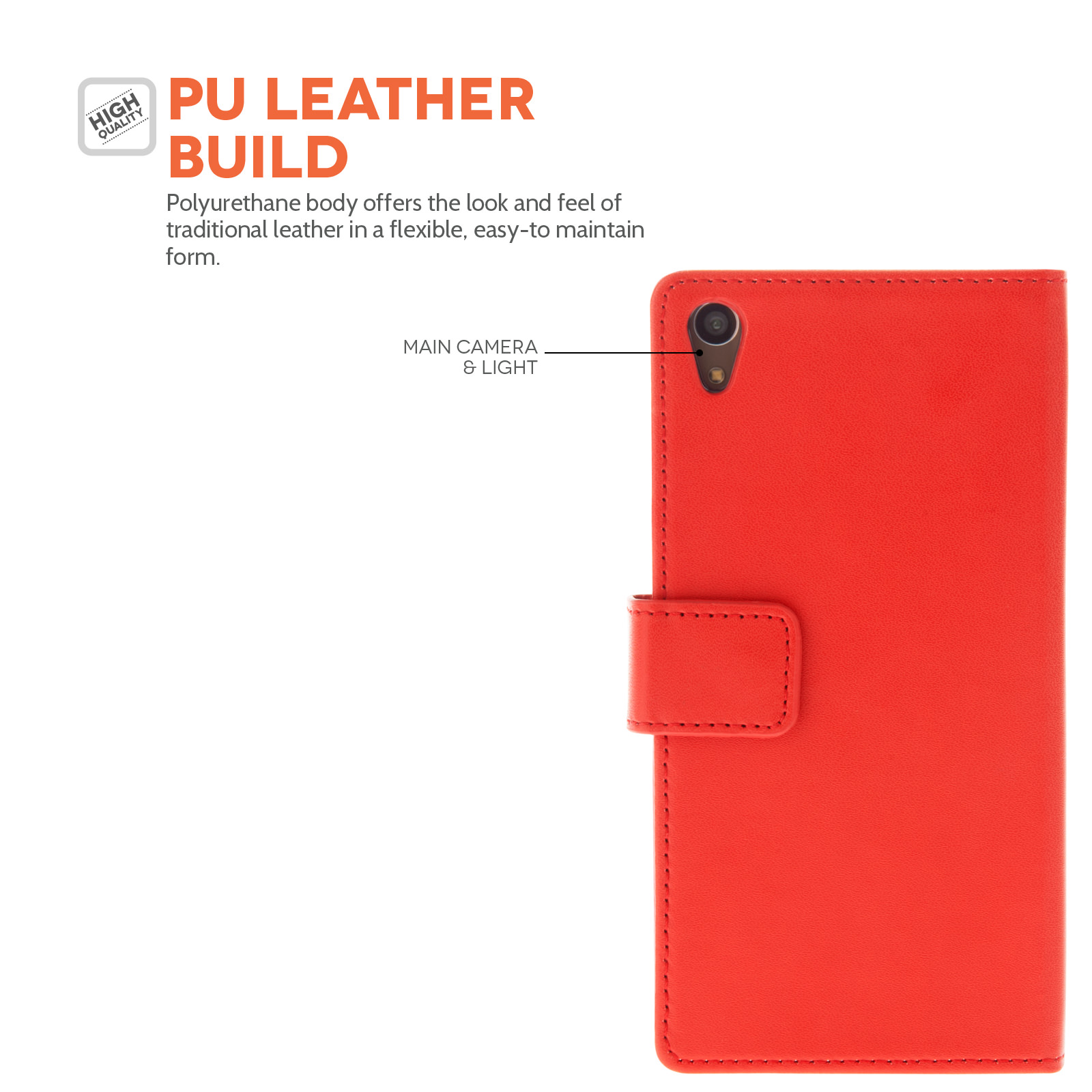 YouSave Sony Xperia Z3+ Leather-Effect Wallet Case - Red