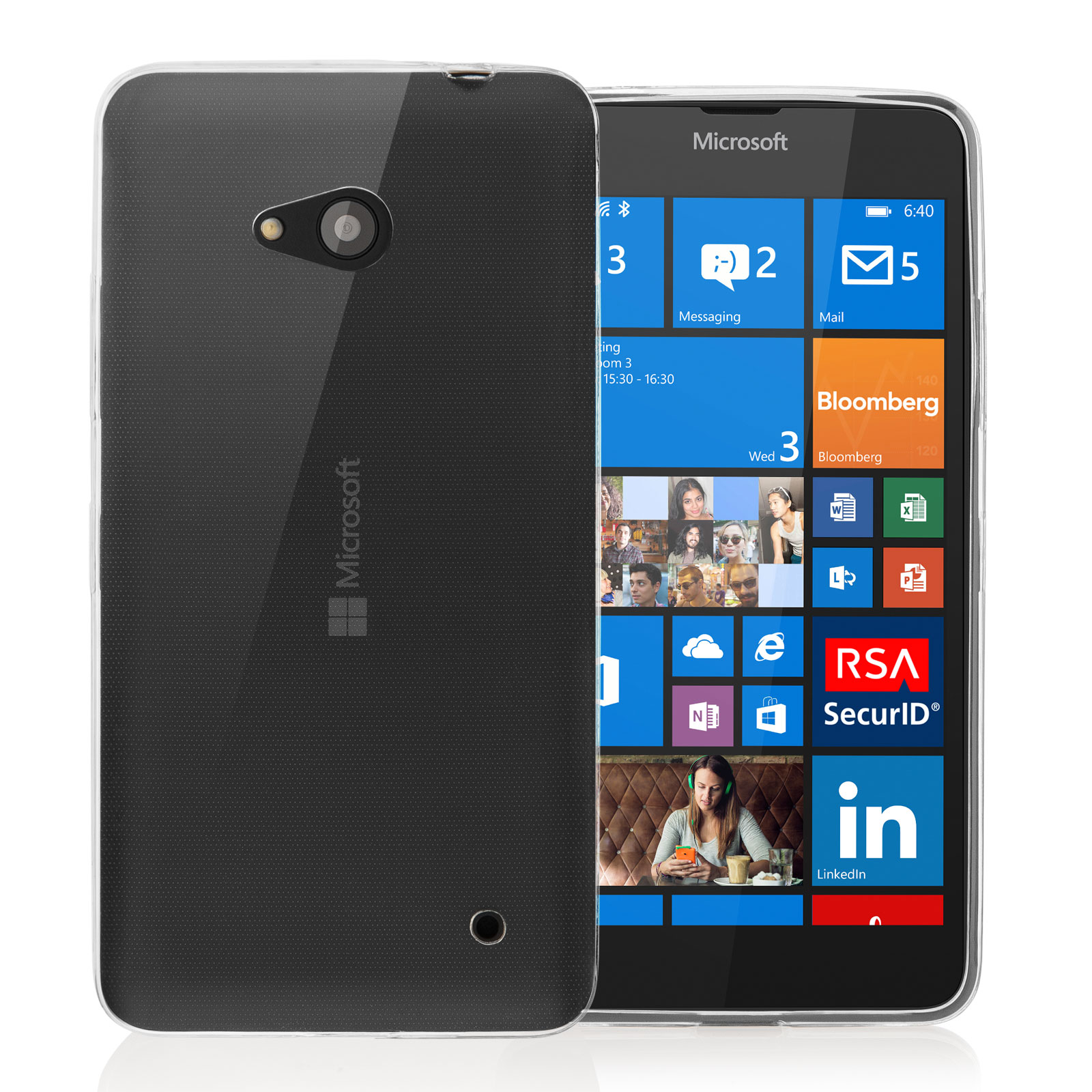 Yousave Accessories Microsoft Lumia 640 0.6mm Clear Gel
