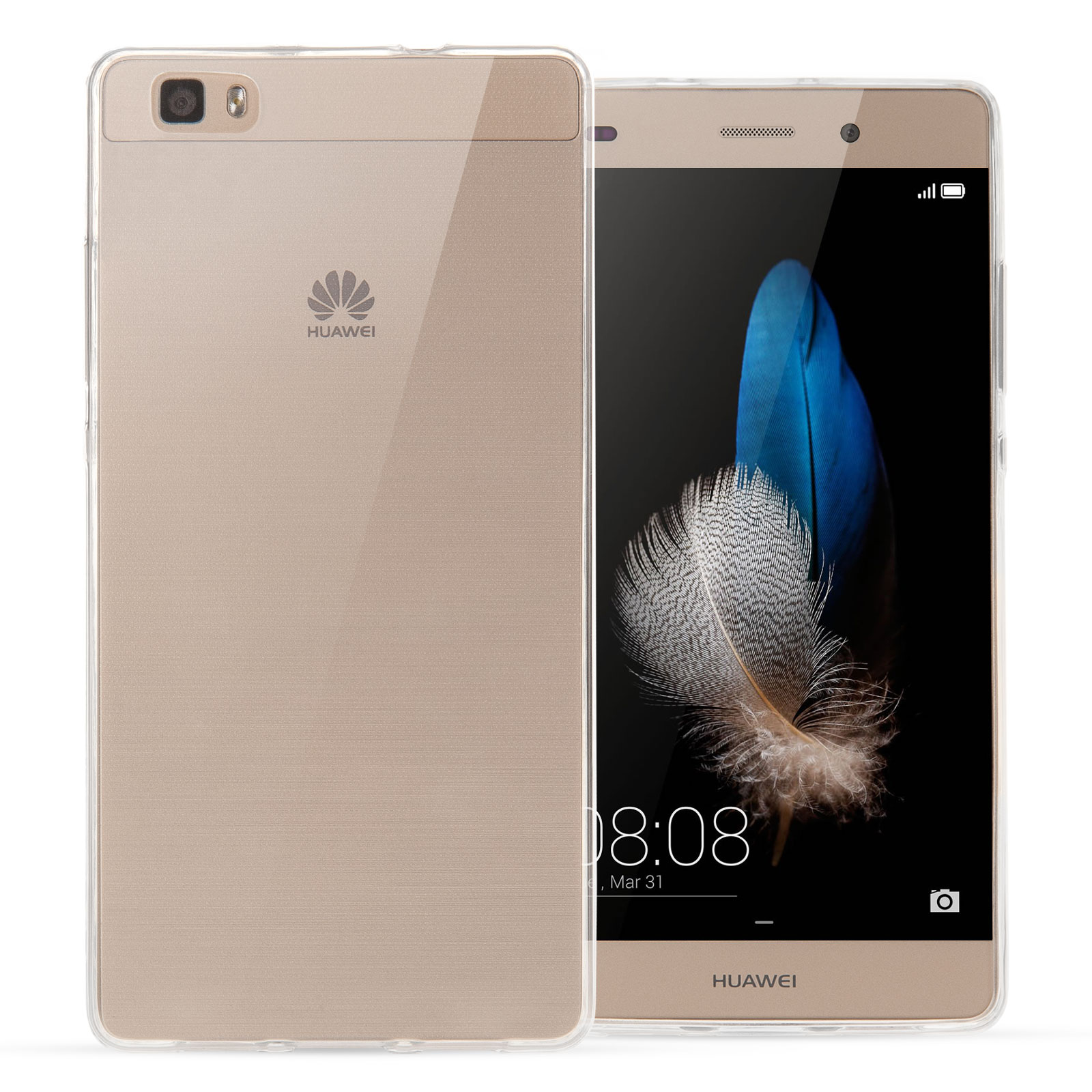 new style 29fb4 8cbbf Yousave Accessories Huawei P8 Lite 0.6mm Gel Case - Clear