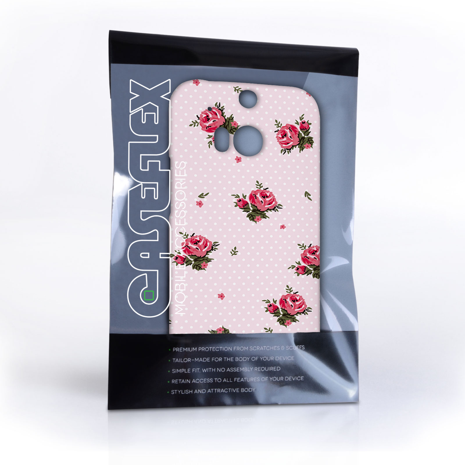 Caseflex htc one m8 vintage roses polka dot wallpaper h - Htc one m8 stock wallpapers ...