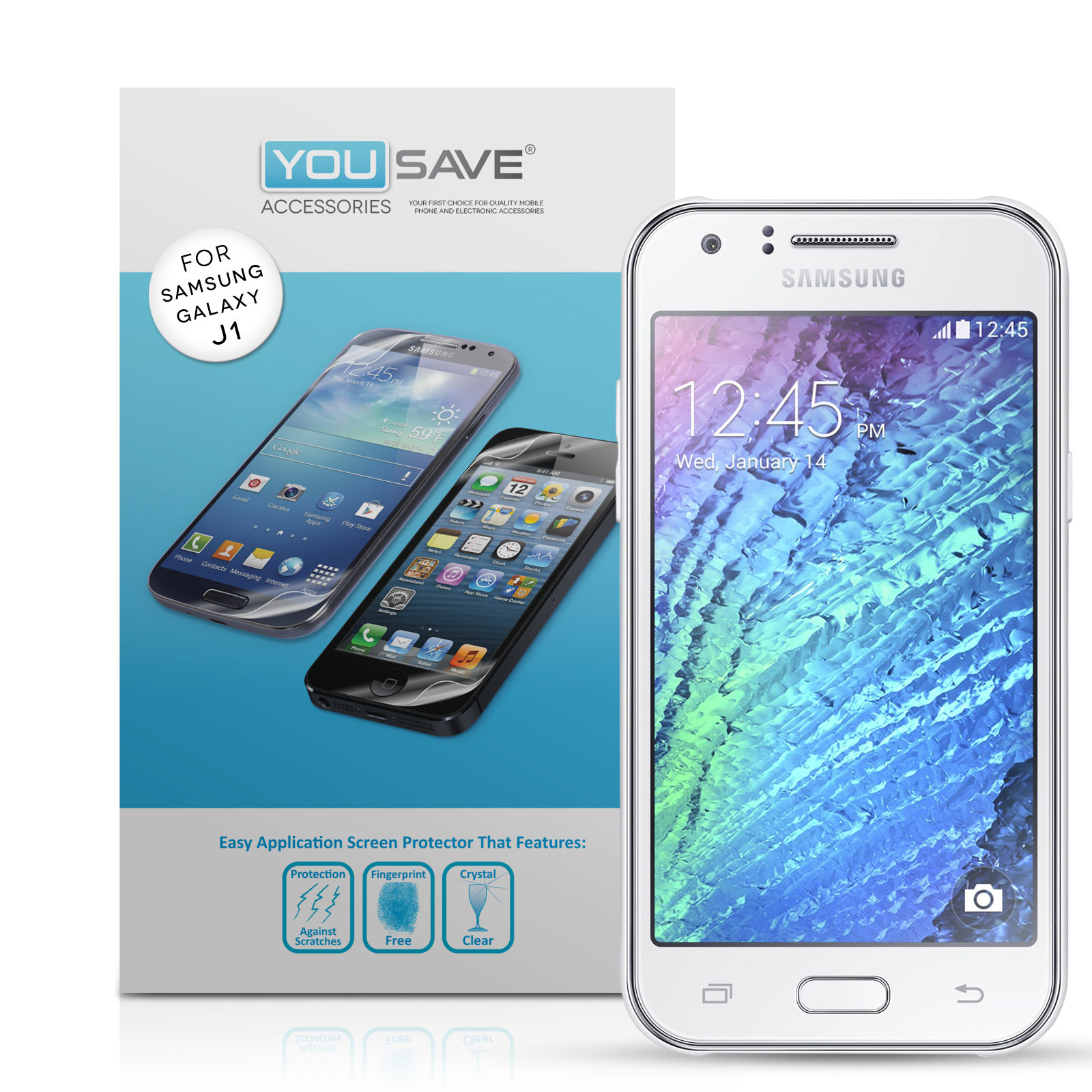 Yousave Accessories Samsung Galaxy J1 (2016) Screen Protectors x5