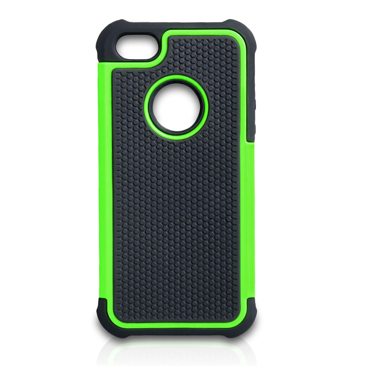 official photos 99bac 4d9a0 Yousave Accessories Iphone SE Grip Combo Case - Green