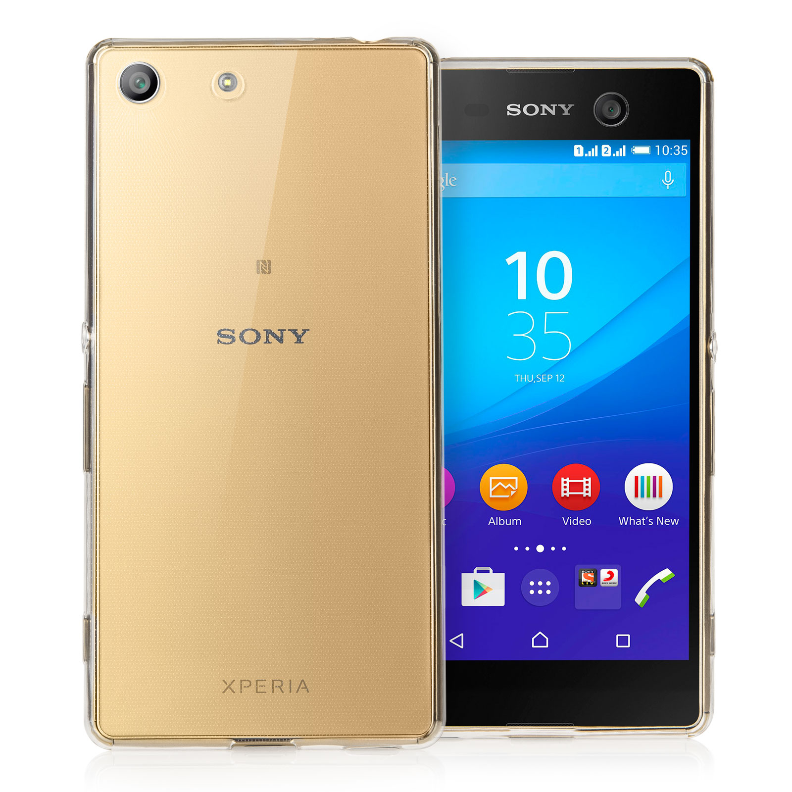 Yousave Accessories Sony Xperia M5 Ultra Thin Clear Gel Case