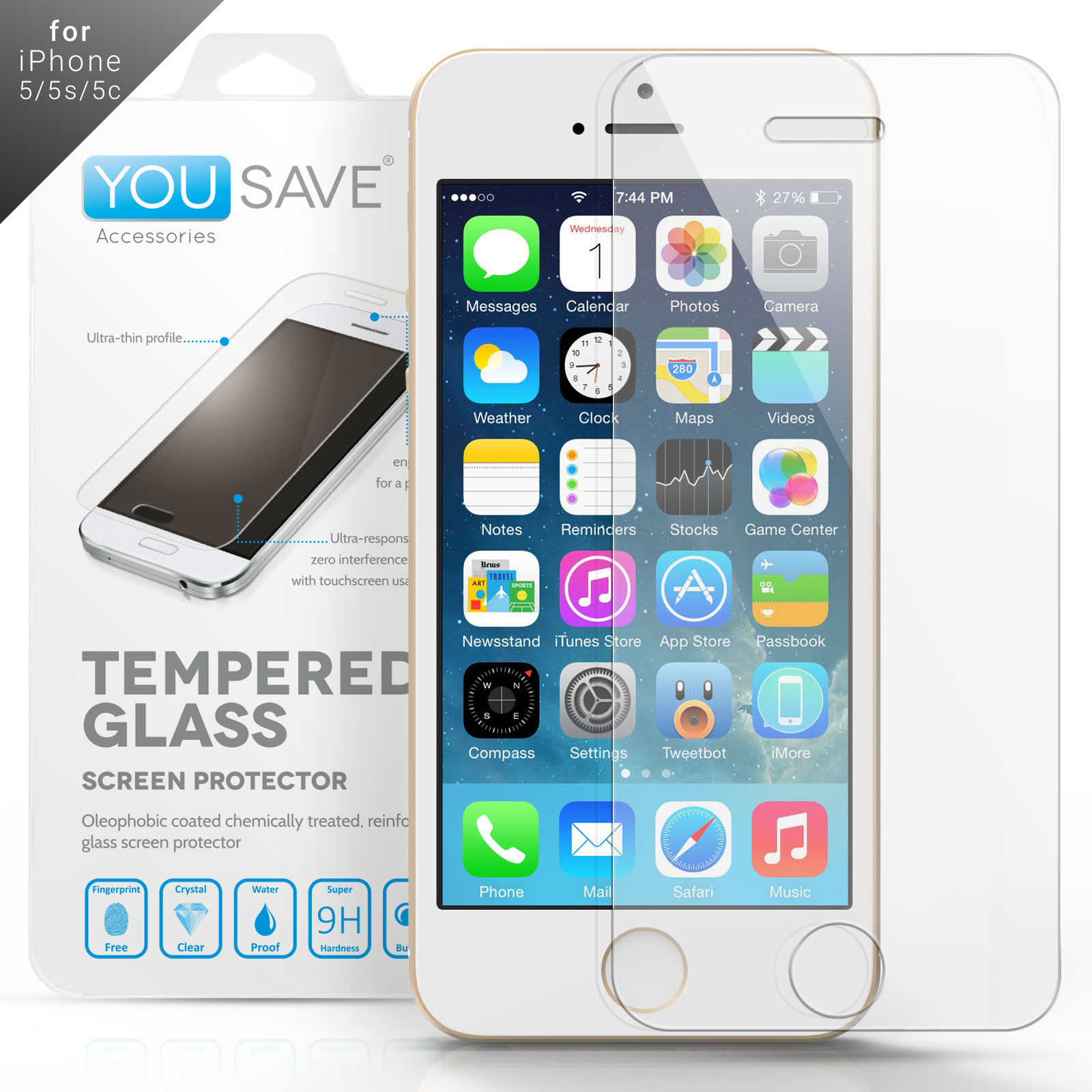 YouSave iPhone 4 and 4s Glass Screen Protector