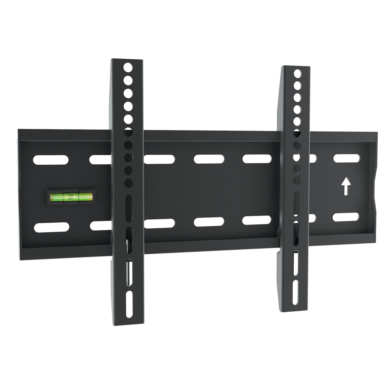 slim compact fixed position tv wall mount bracket 17 to 37. Black Bedroom Furniture Sets. Home Design Ideas