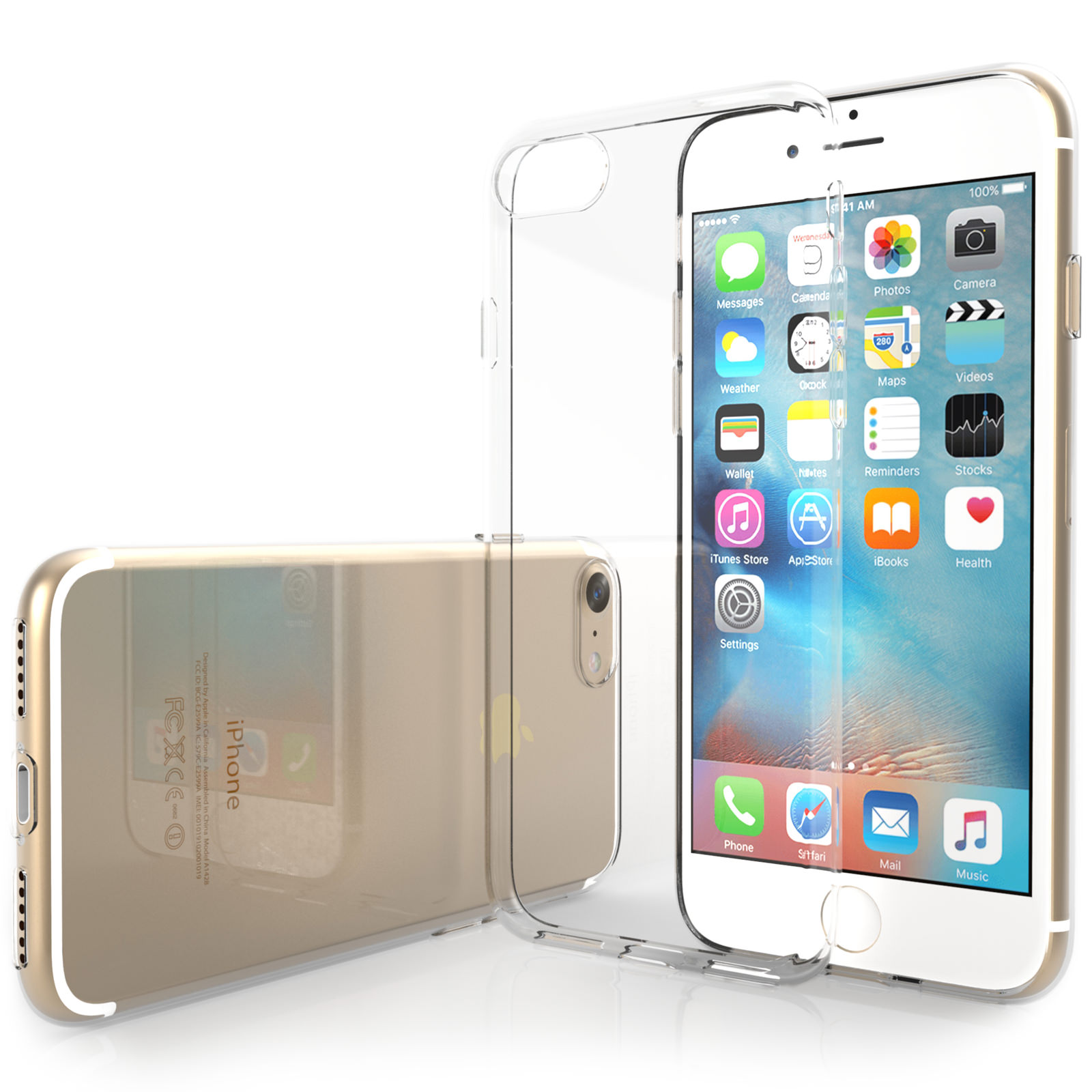 Yousave Accessories iPhone 7 Ultra Thin Clear Gel Case