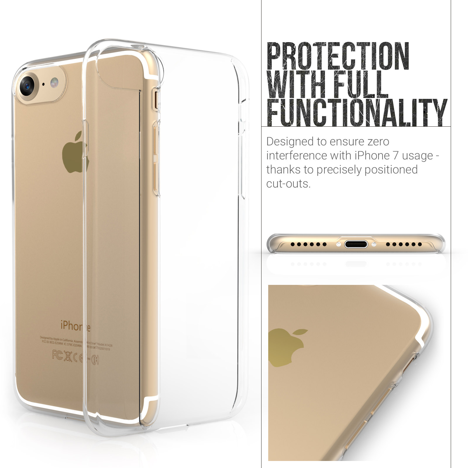 Yousave Accessories iPhone 7 Hard Case - Crystal Clear