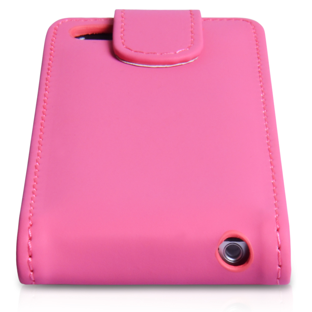 YouSave Accessories iPhone 5 / 5S  Leather Effect Flip Case - Hot Pink