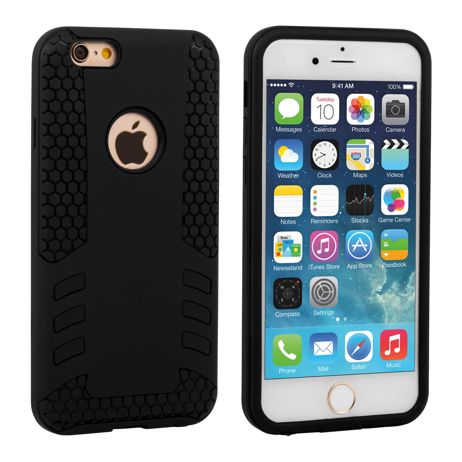 Caseflex iPhone 6 / 6s Border Combo Case - Black