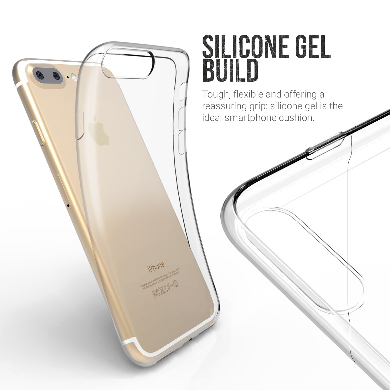 Yousave Accessories  iPhone 7 Plus Ultra Thin Clear Gel Case