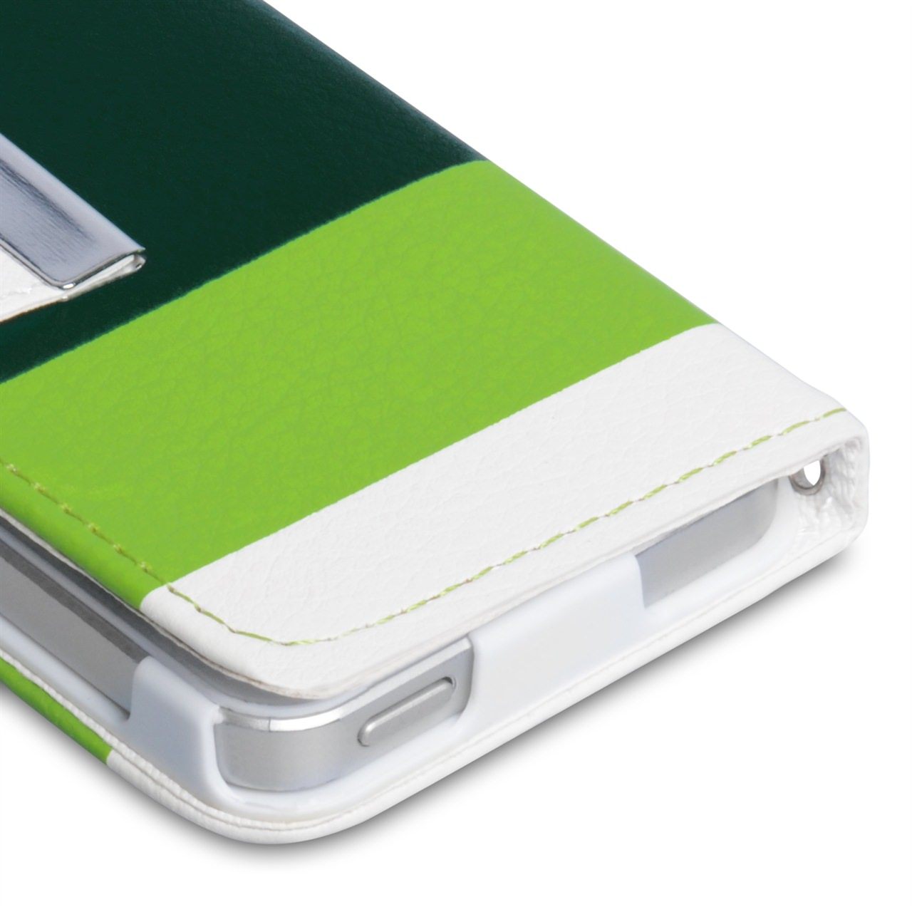 YouSave iPhone 5 / 5S Inner Leather Effect Wallet Stand Case - White