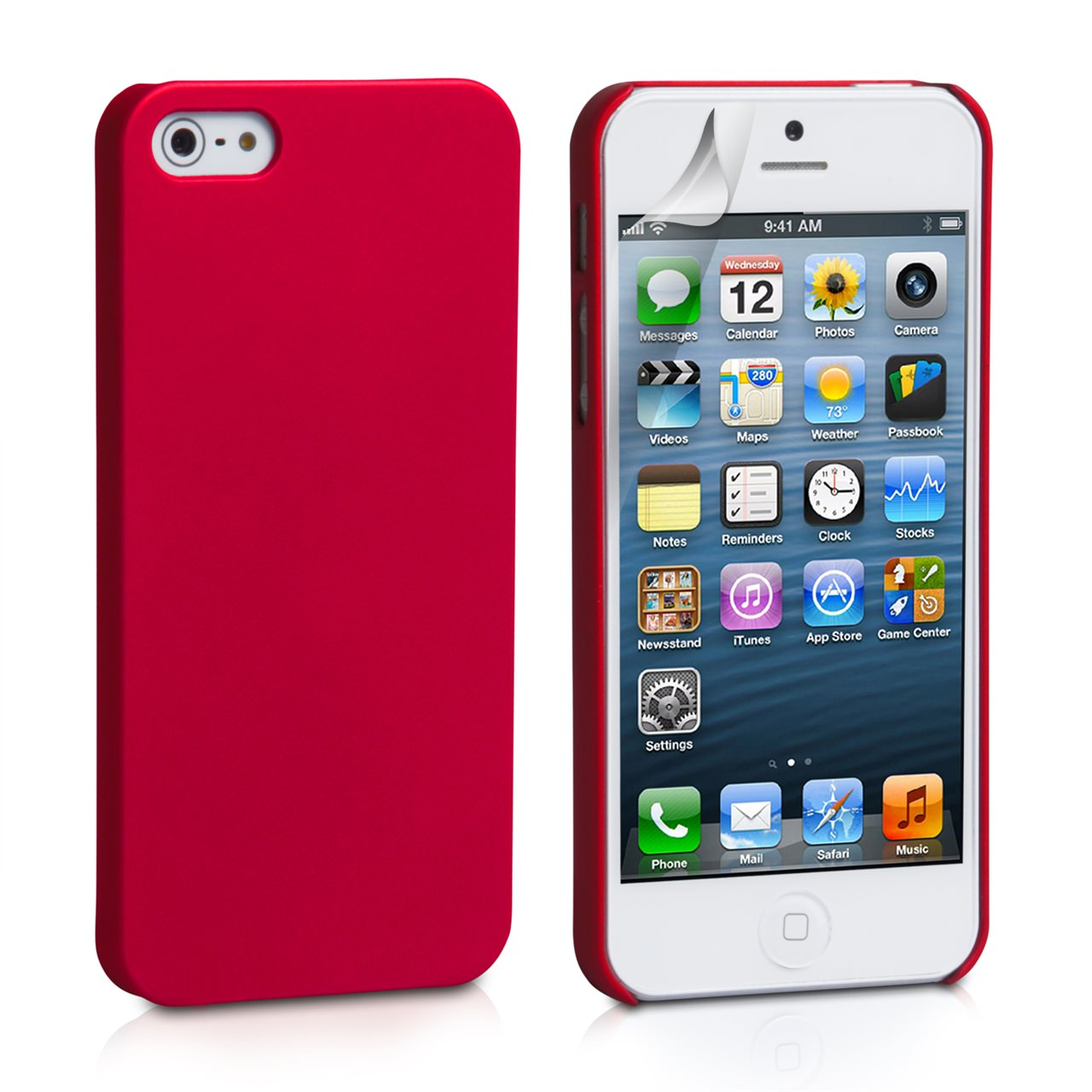 YouSave Accessories iPhone 5 / 5S Hard Hybrid Case -Red