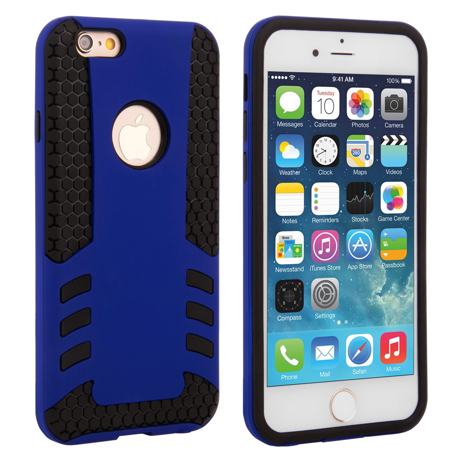 Caseflex iPhone 6 / 6s Border Combo Case - Blue
