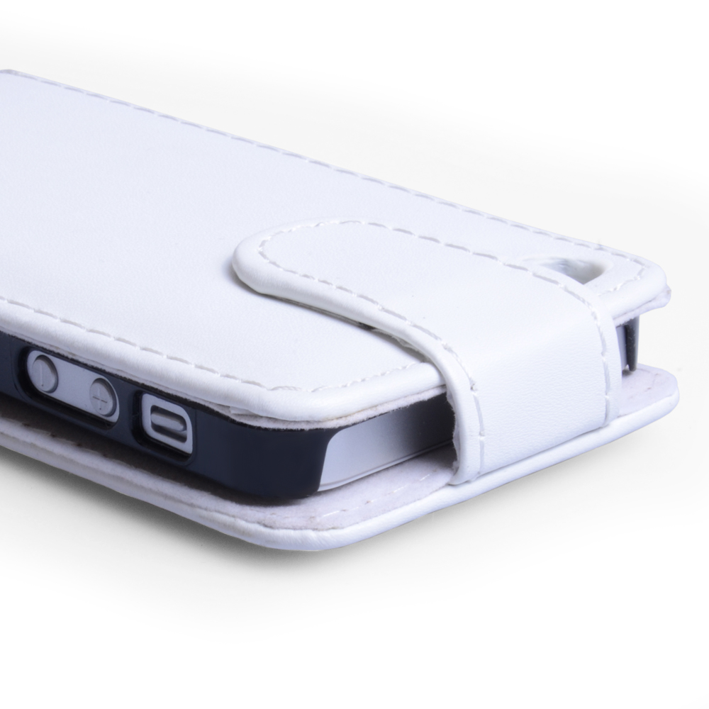 YouSave Accessories iPhone 5 / 5S Leather Effect Flip Case - White