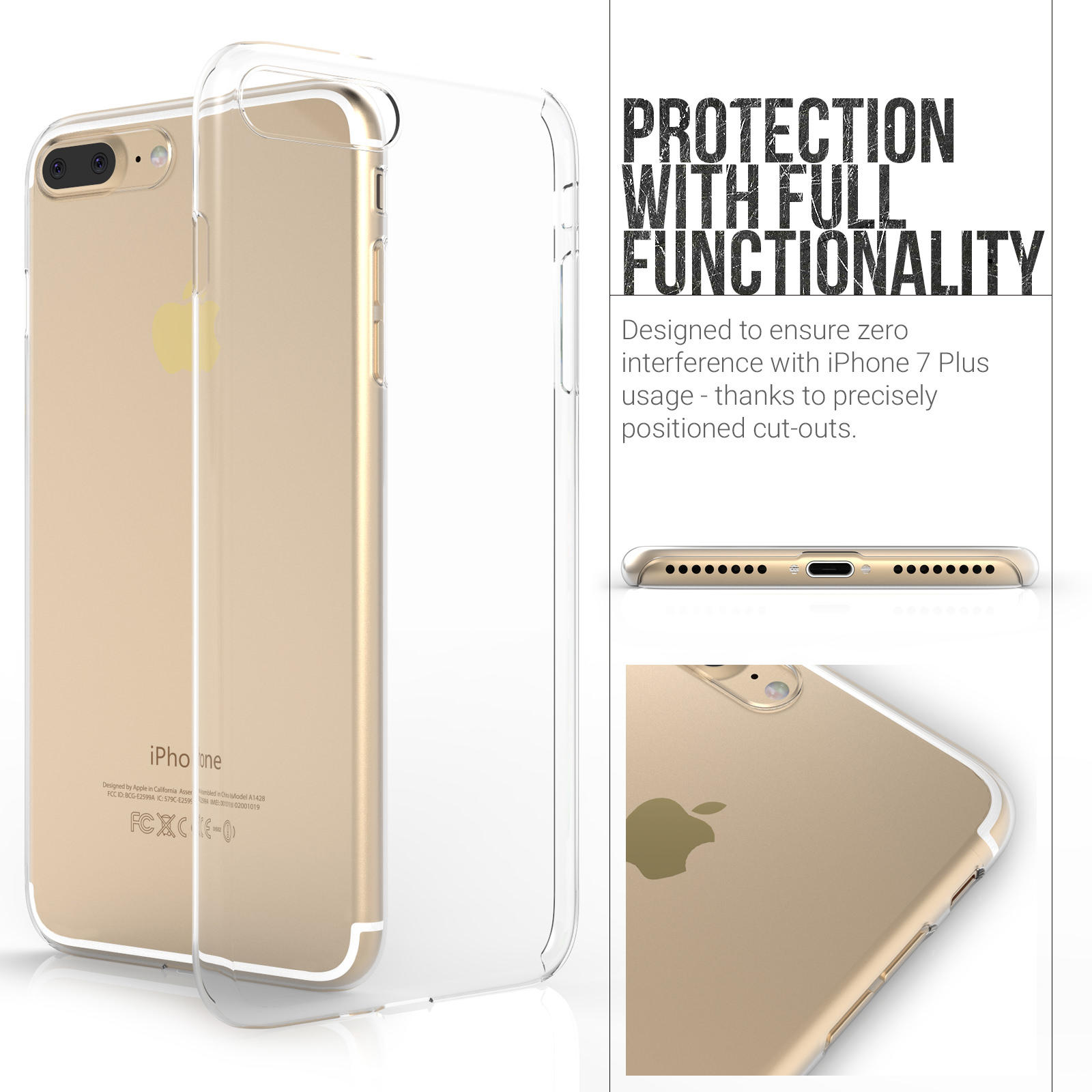 Yousave Accessories iPhone 7 Plus Hard Case - Crystal Clear