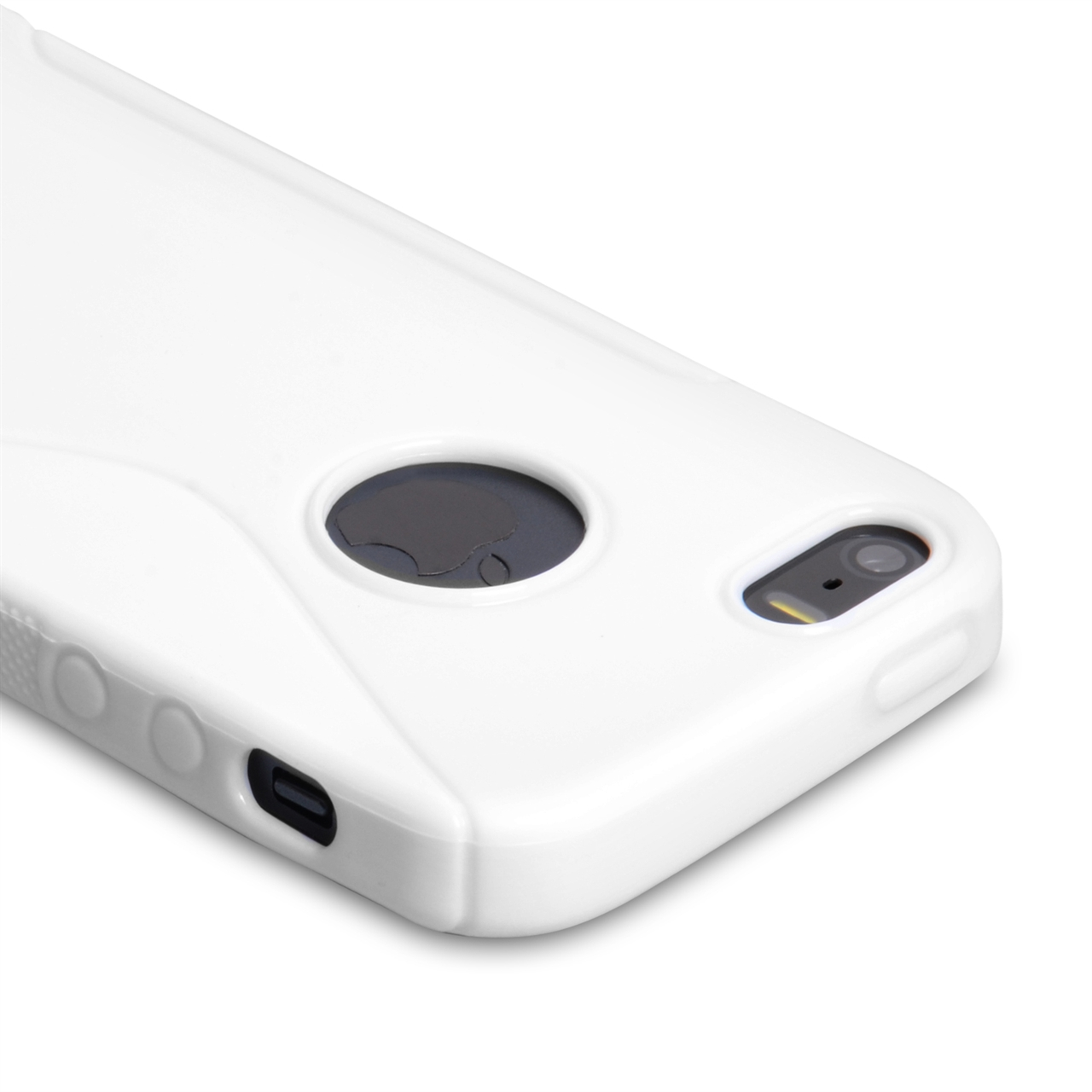 Caseflex Iphone 5 And 5s S-Line Gel Case - White