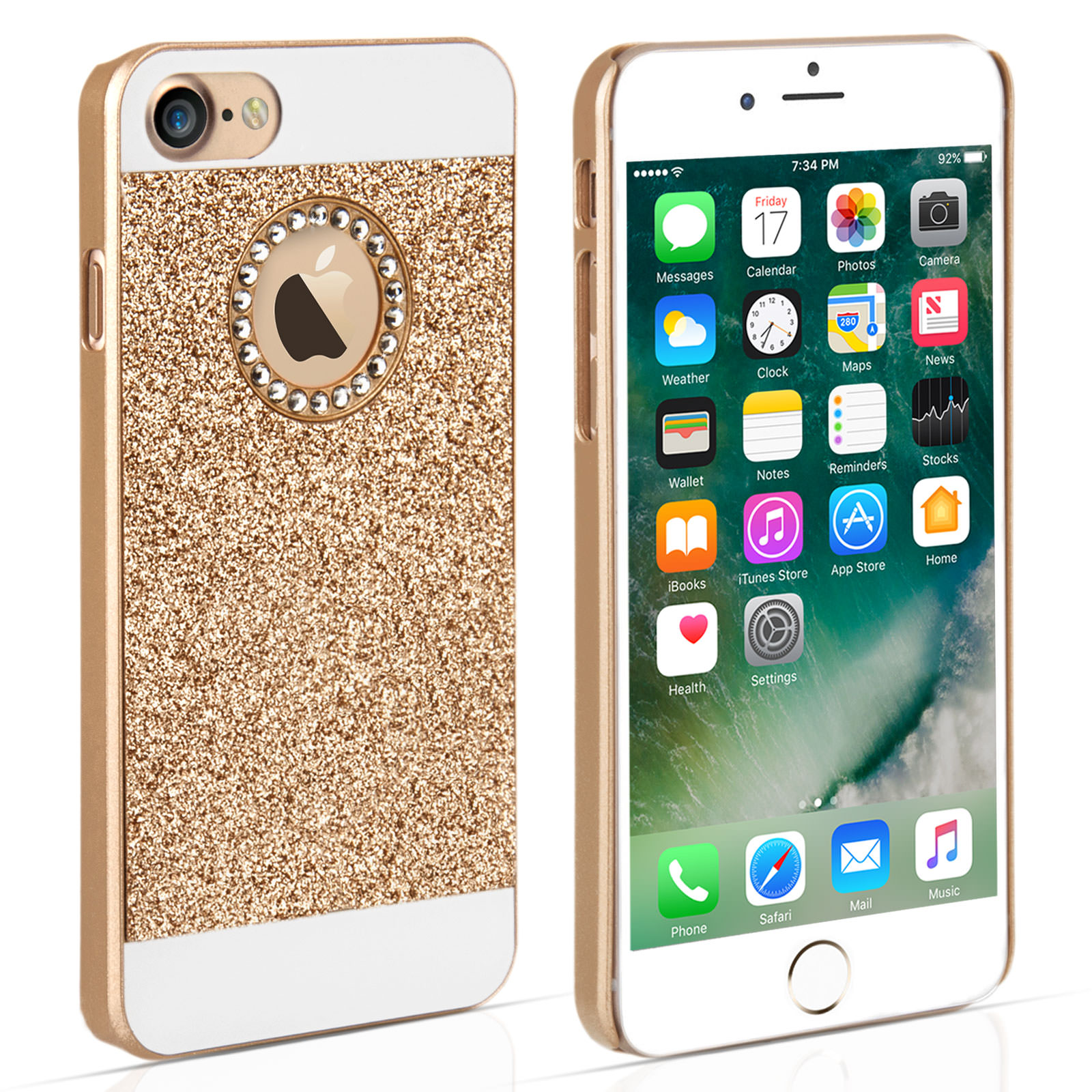 YouSave iPhone 7 Flash Diamond Case - Gold