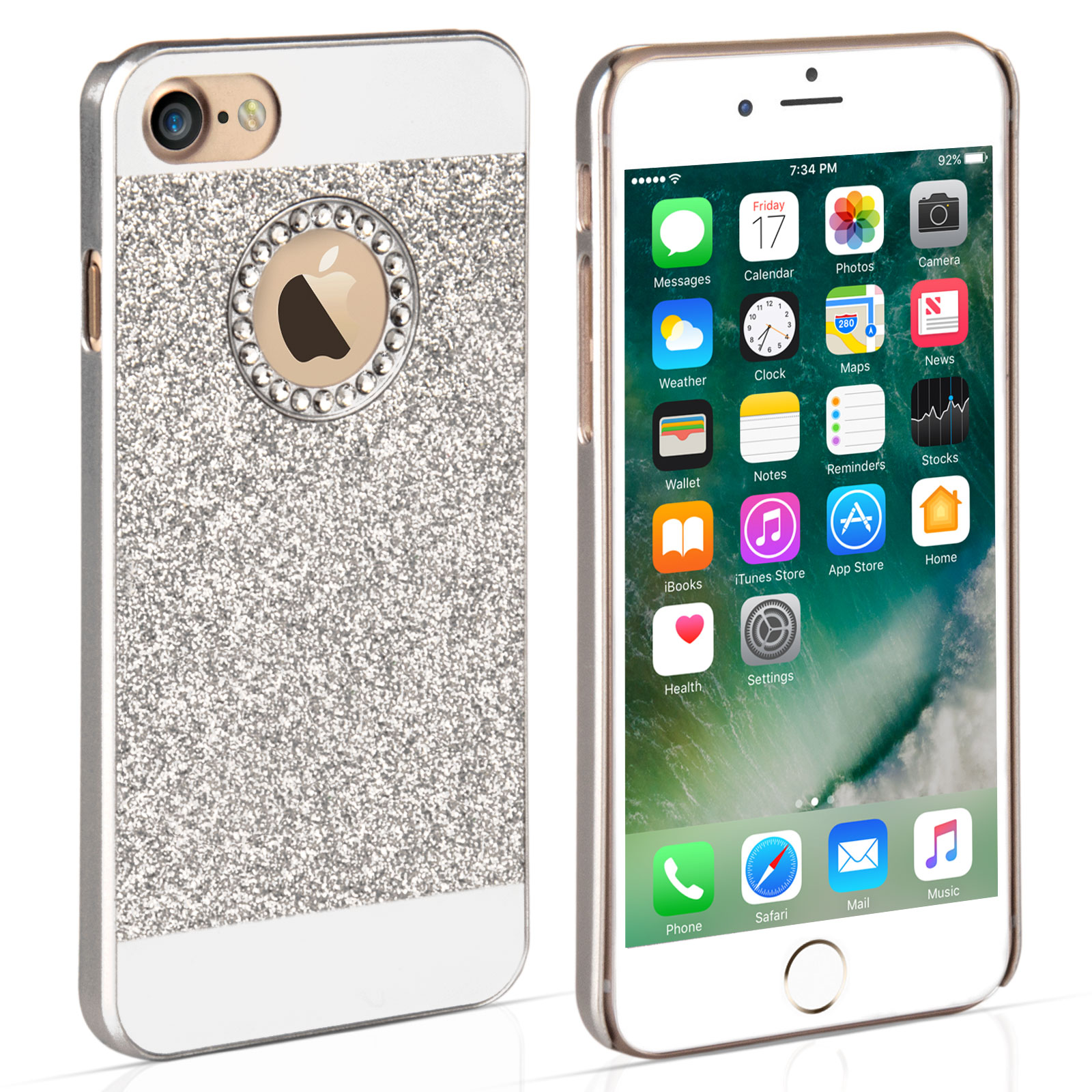 YouSave iPhone 7 Flash Diamond Case - Silver
