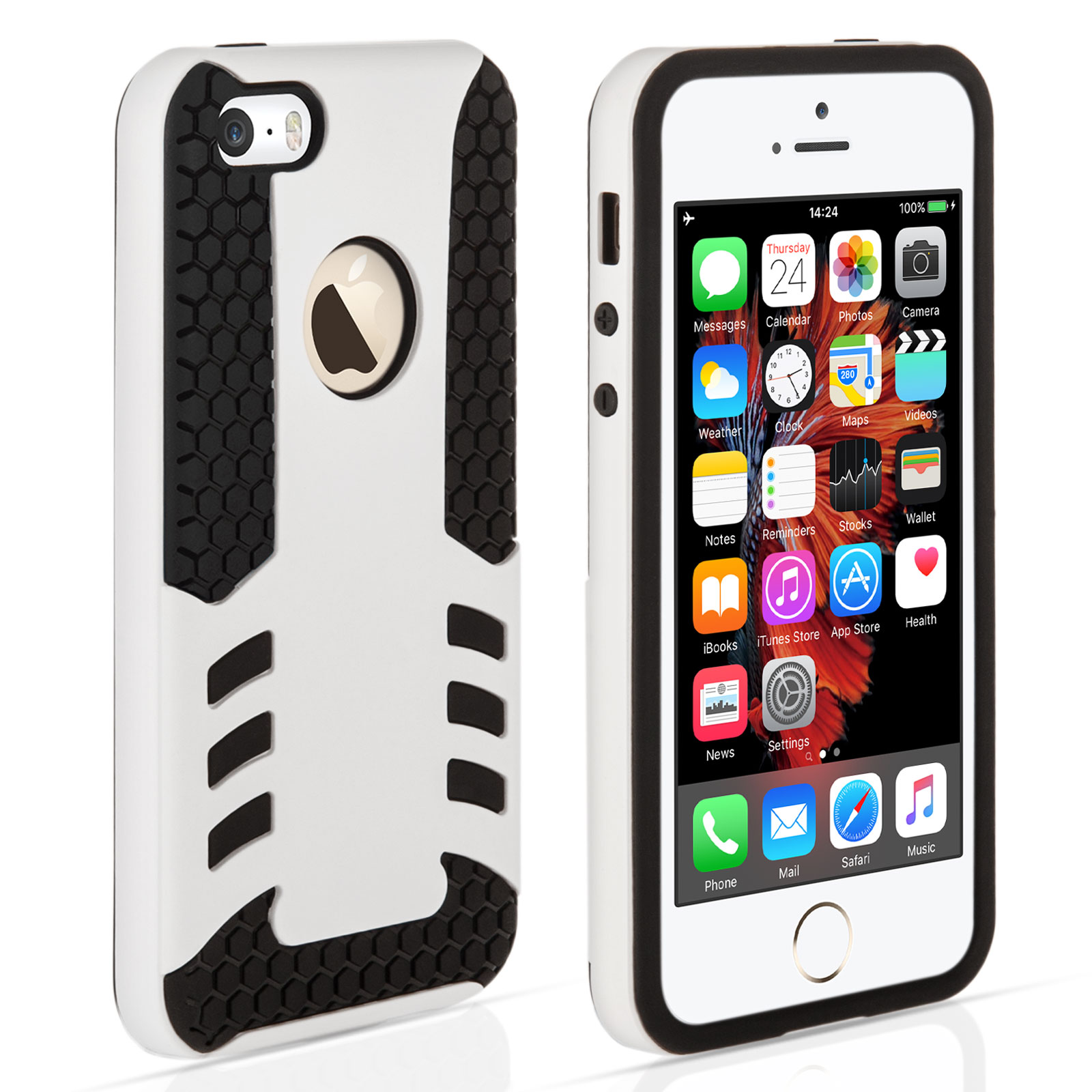 YouSave iPhone 5 / 5S / SE Border Combo Case - White