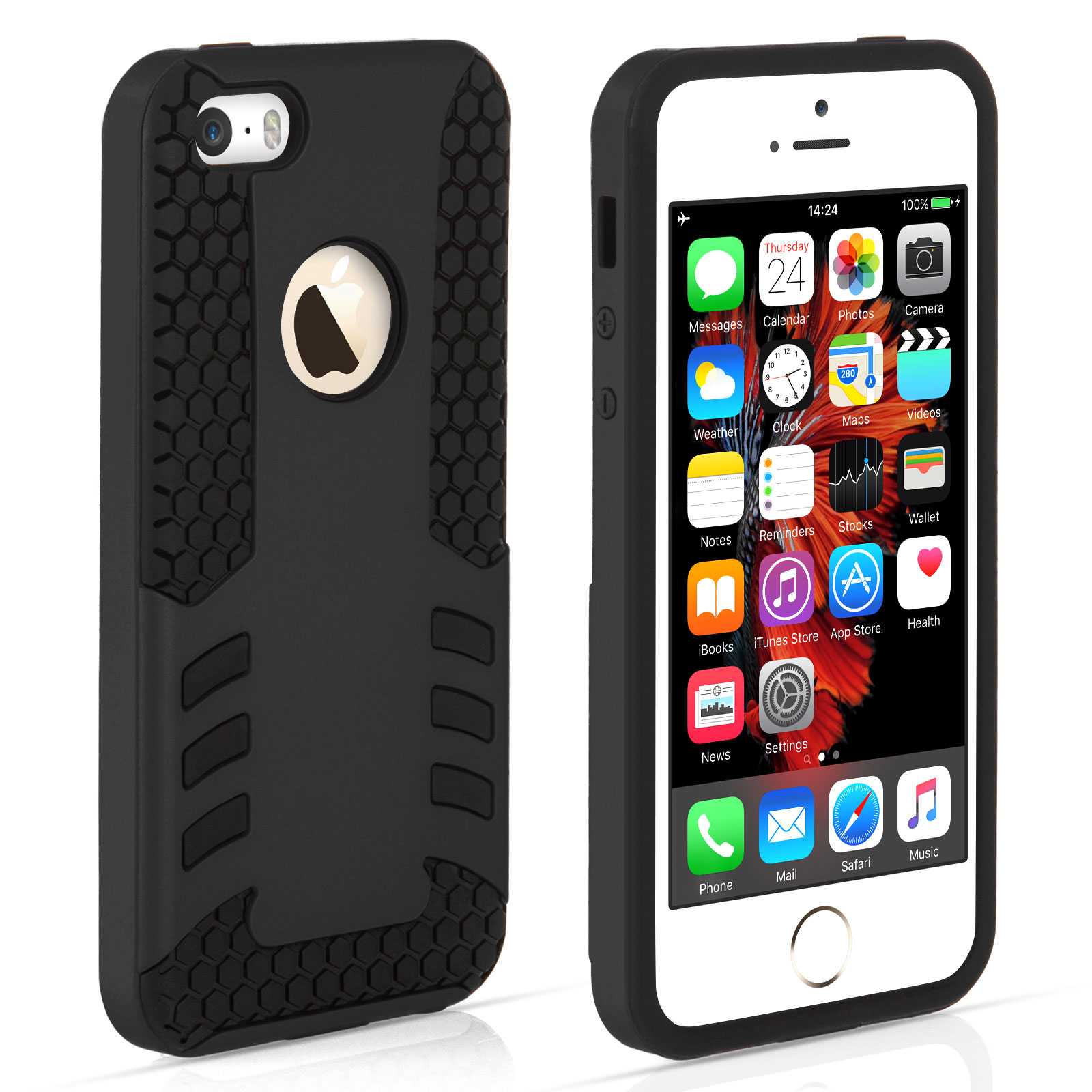YouSave iPhone 5 / 5S / SE Border Combo Case - Black